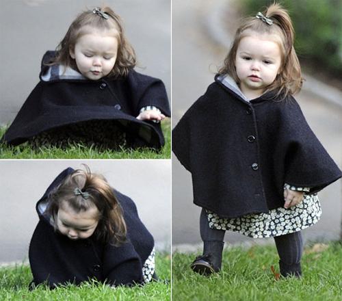 Con gái Victoria Beckham ngã bổ chửng trong công viên