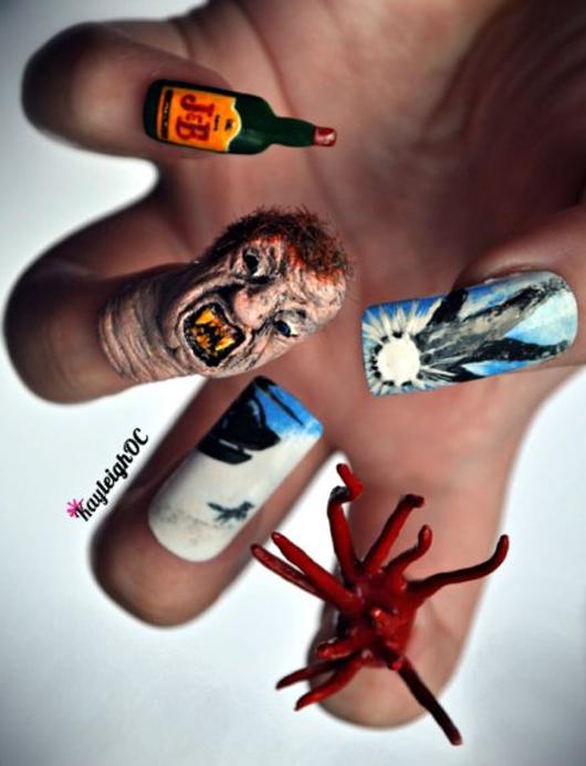 Cách vẽ nail ma quái cho mùa Halloween