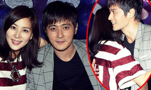 Jang Dong Gun ôm vợ tình tứ