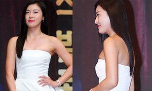 Ha Ji Won nền nã với đầm trắng