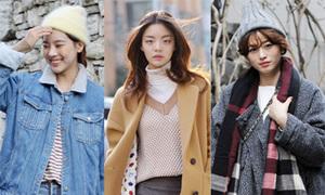 Street style mùa đông ấm áp của giới trẻ Hàn