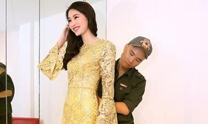 Hoa hậu Thu Thảo khoe sắc với trang phục Đỗ Mạnh Cường
