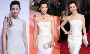 Những bộ váy trắng trang nhã của Lý Băng Băng