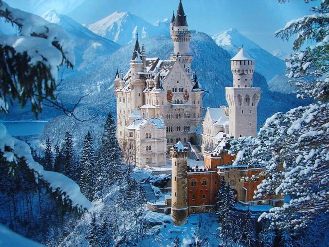 Những lâu đài giữa thiên nhiên tươi đẹp trên thế giới