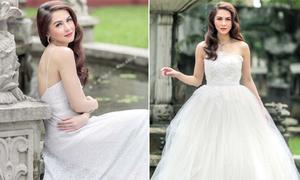 'Mỹ nhân đẹp nhất Philippines' ngọt ngào với váy cưới