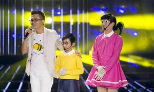 Minh Thuận mặc váy làm Xuka trong Gương mặt thân quen nhí