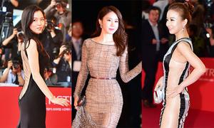 Mốt xuyên thấu của sao nữ Hàn trên thảm đỏ Busan