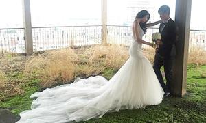 Hậu trường chụp ảnh cưới của Thủy Tiên và Công Vinh