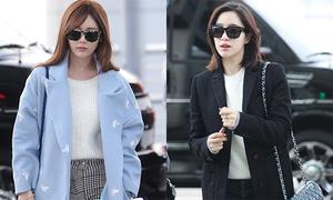 Các cô gái T-ara mặc khỏe khoắn khi đến Việt Nam