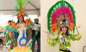 Thí sinh Miss Universe 2014 thử trang phục dân tộc