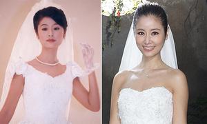 Những khoảnh khắc diện váy cưới của Lâm Tâm Như