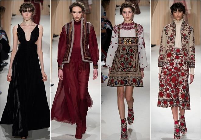 Cảm hứng nước Nga lãng mạn trên váy áo Valentino