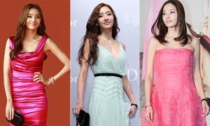 Váy áo duyên dáng, nữ tính của Han Chae Young