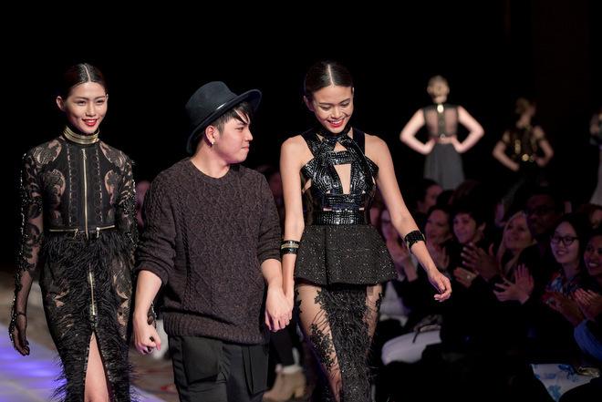 Bộ sưu tập 'Quạ đen' của Lý Giám Tiền ở Couture Fashion Week