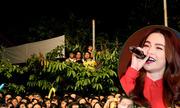 Sinh viên trèo cây, leo mái nhà xem Hà Hồ hát