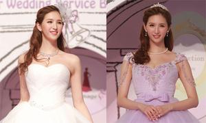 Kiều nữ TVB trình diễn váy cô dâu