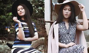 Ngọc Thanh Tâm phối đồ phong cách vintage