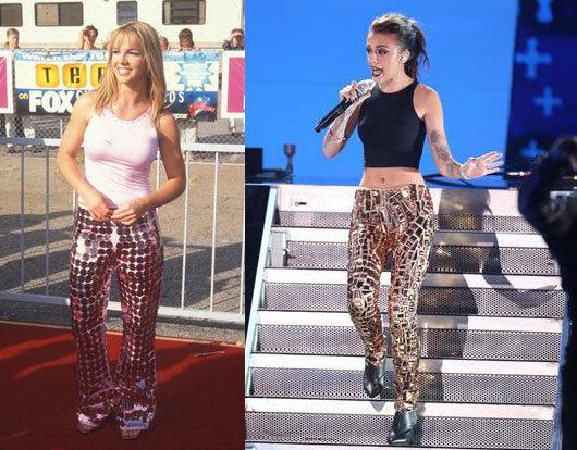 Các sao bắt chước phong cách thời trang của Britney Spears