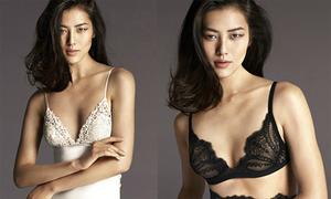 Người mẫu số một Trung Quốc khoe dáng với nội y
