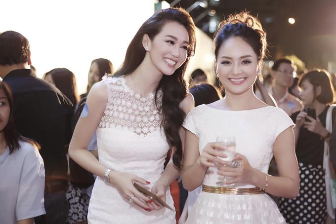 Khánh My, Lan Phương đọ dáng với sắc trắng