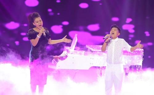 Thu Minh song ca với Tiến Quang ca khúc Ước mơ.