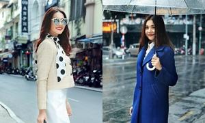 Thanh Hằng thả dáng trên phố với phong cách vintage