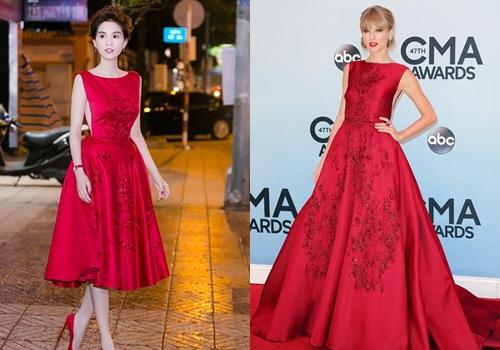 Mẫu váy của Ngọc Trinh mặc tối qua.