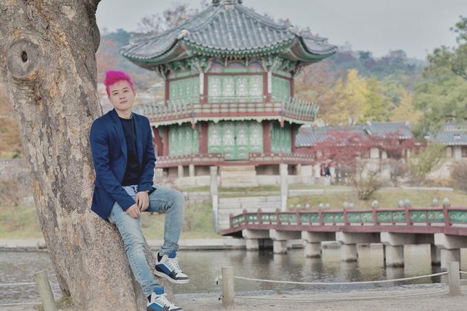 Thanh Duy thăm hoàng cung Hàn Quốc