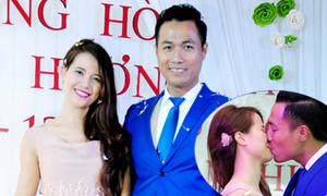 Người mẫu Quang Hòa hôn và hát tặng vợ trong tiệc cưới