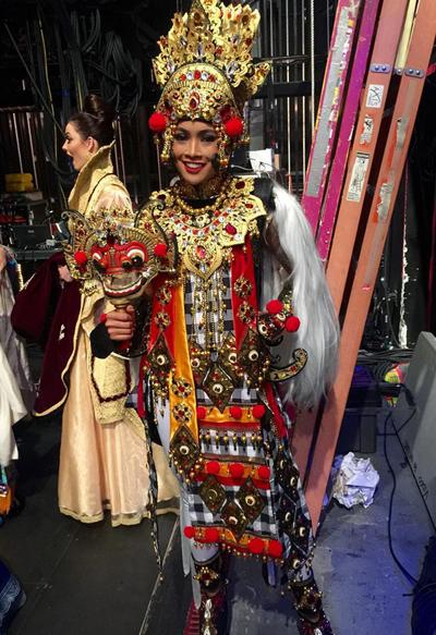 Hoa hậu Indonesia.