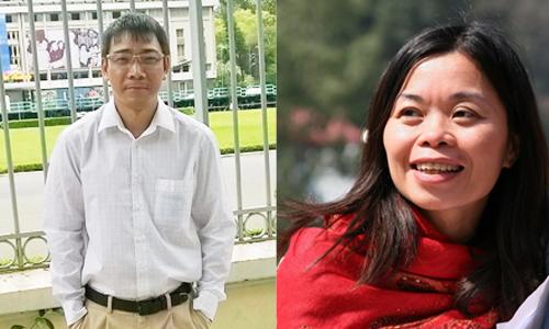 Ông Ngô Xuân Phúc và nhà thơ Nguyễn Phan Quế Mai.
