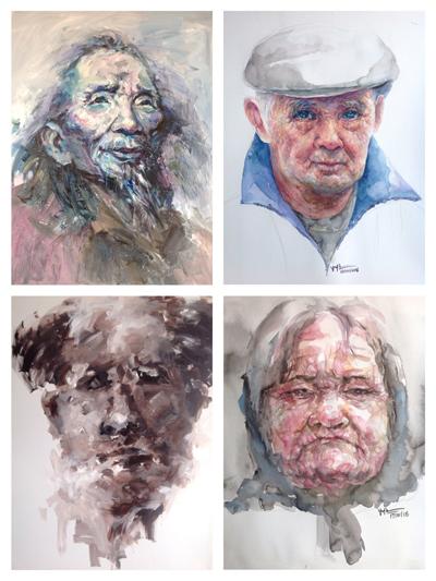 Hiện anh có khoảng hơn 250 tác phẩm chân dung được vẽ bằng màu nước. Ngoài chất liệu Màu Nước, thì PHẤN MÀU cũng là thế mạnh.