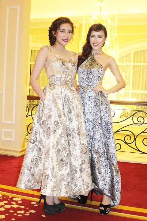 Thu Thảo đọ dáng cùng Nữ hoàng Trang sức 2015 Đặng Phạm Phương Chi.