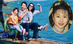 Người đẹp phim 'Hoàn Châu Cách Cách' khoe chồng con