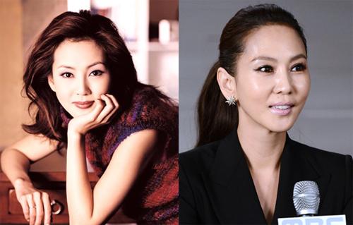 """Hình ảnhKim Nam Joo ngập tràn trên các quảng cáo thập niên 1990. Cô ghi dấu ấn với """"Người mẫu"""", """"Nhà nàng""""... Những năm gần đây người đẹp ít đóng phim."""