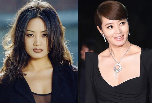 """Kim Hye Soo được nhắc đến nhiều với vai cô giáo dịu dàng trong """"Thành thật với tình yêu"""", đóng cùng Bae Yong Joon."""