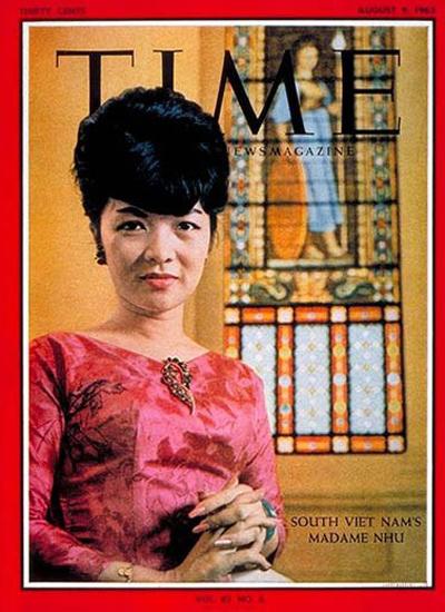 Bà Trần Lệ Xuân trên bìa tạp chí Time.