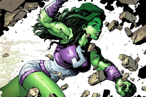 Tạo hình She-Hulk trong truyện tranh. Ảnh: Wikia.