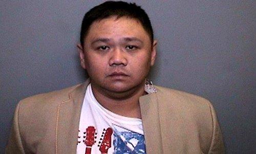 Diễn viên Minh Béo khi bị bắt ở Mỹ.