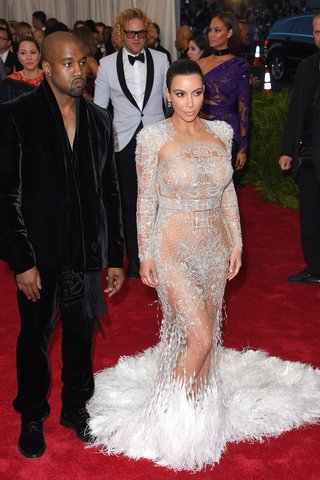 Kim Kardashian West, in Roberto Cavalli by Peter Dundas, at the China: Through the Looking Glass Met Gala, 2015.