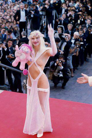 Cicciolina at Cannes, 1988.