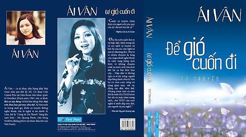 """Bìa tự truyện Ái Vân mang tên """"Để gió cuốn đi""""."""