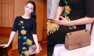 Linh Nga phối túi 120 triệu đồng với đầm hoa cúc