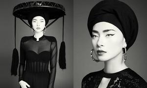 Ngô Thanh Vân mặc áo xuyên thấu, đội nón quai thao