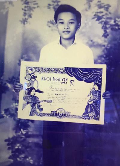 Minh Vương năm 14 tuổi khi được đoạt danh hiệu Khôi