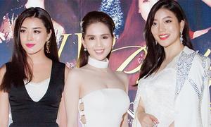 Ngọc Trinh đọ sắc bên Hoa hậu Thế giới Hàn Quốc và Trung Quốc