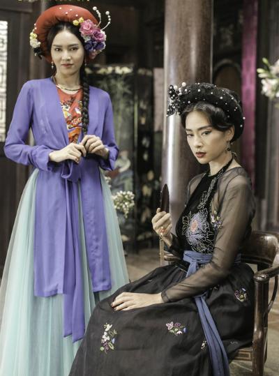 Tạo hình của Ngô Thanh Vân và Lan Ngọc trong phim.