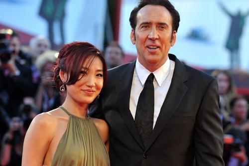 Nicolas Cage và vợ - Alice Kim - khi còn bên nhau.