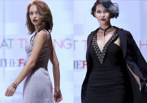 Quỳnh Mai và Linh Châu (phải) là hai thí sinh bị mắng vì kỷ luật kém.