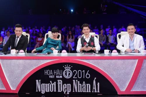Nghệ sĩ Trấn Thành, Xuân Bắc, diễn viên Chi Bảo và nhà báo Trác Thúy Miêu đóng vai trò giúp các người đẹp mở lòng trước khán giả.